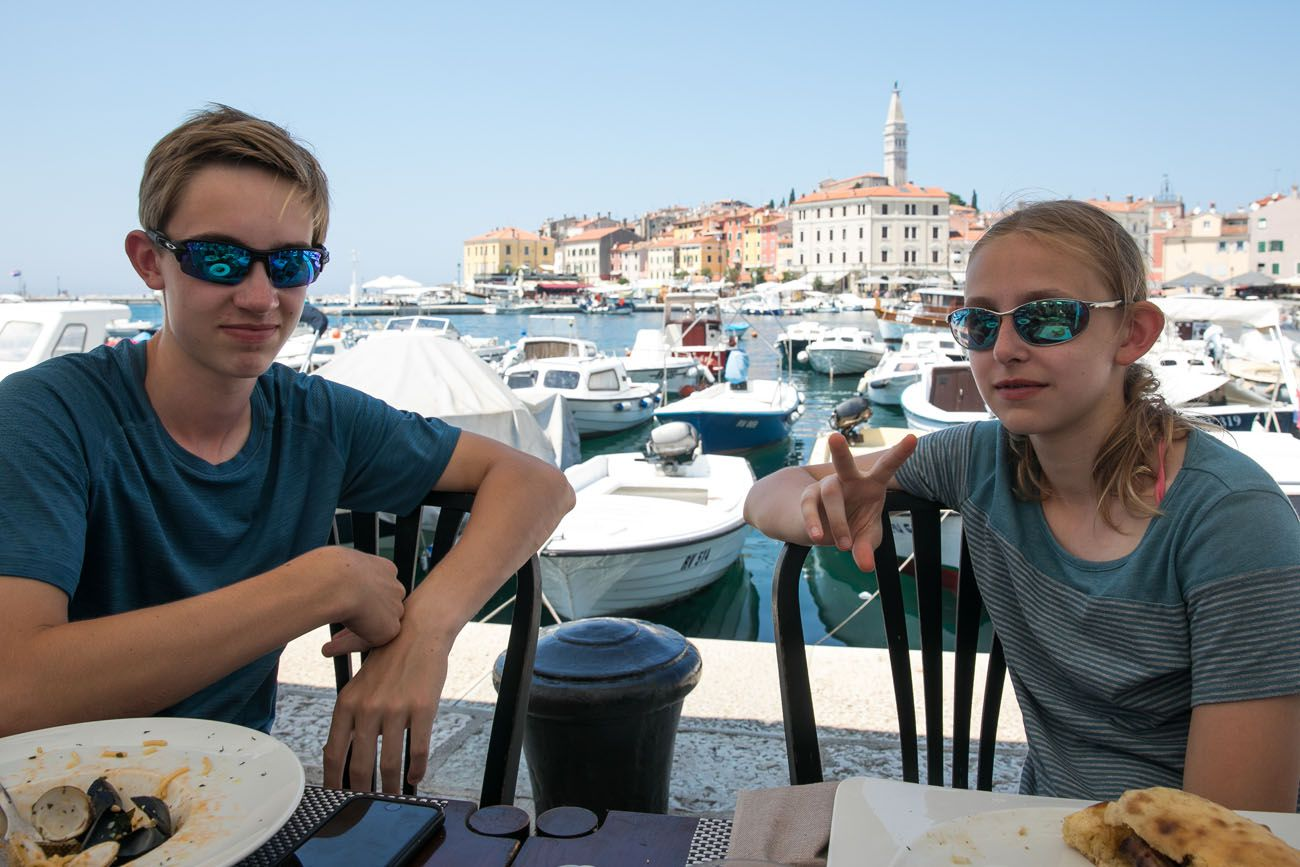 Lunch in Rovinj