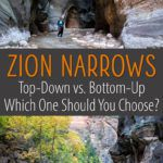 Top Down vs Bottom Up Zion Narrows