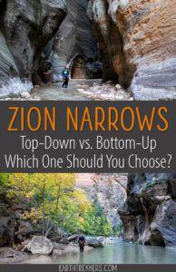 Top Down vs Bottom Up Zion Narrows