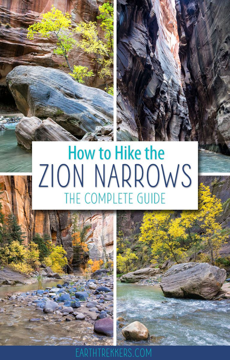 The Narrows is one of the best hikes in Zion National Park. Learn how to hike it from the top down with answers to all of your questions. #thenarrows #zionnarrows #zion #hiking #bucketlist