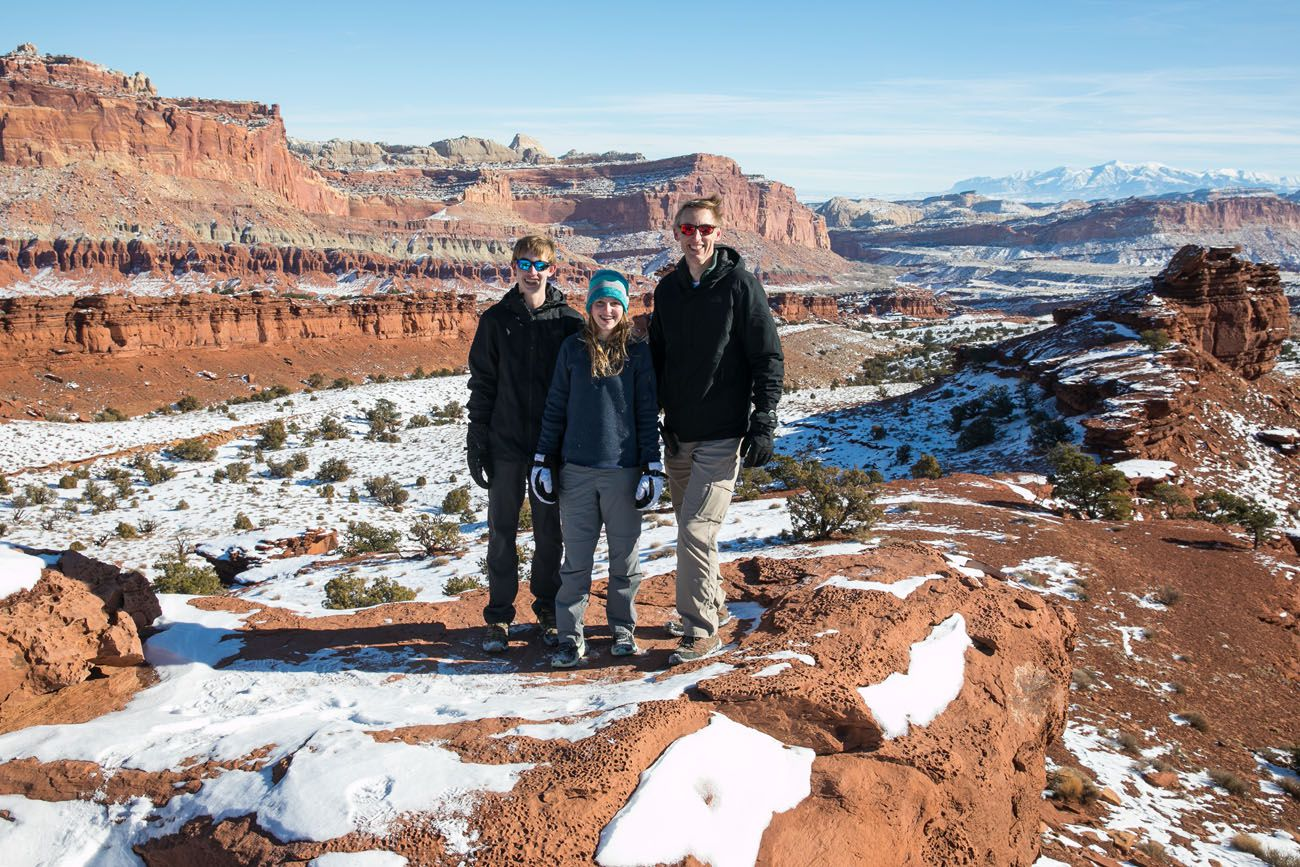 Capitol Reef and Snow
