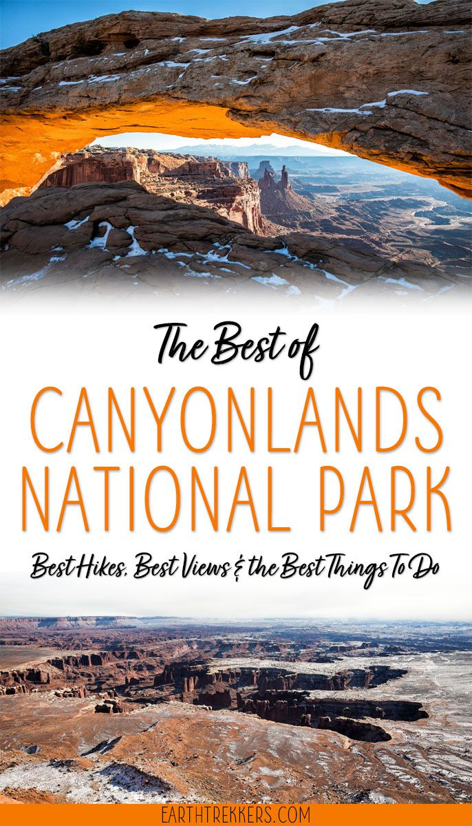 Canyonlands: best things to do, including the best hikes and best views. The perfect guide for your first visit. Mesa Arch, Grand View Point, Upheaval Dome, and more. #canyonlands #utah #hiking #nationalpark