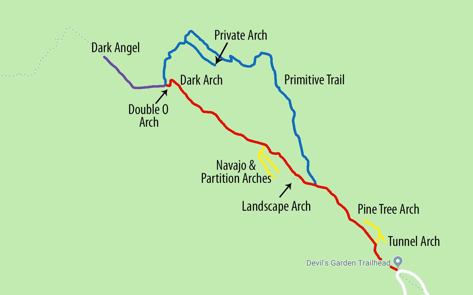 Devils Garden Trail Map