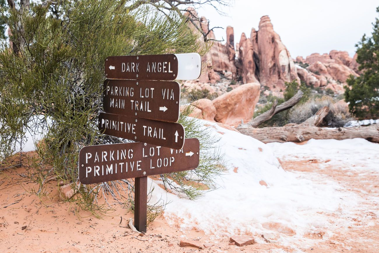 Devils Garden Trail Sign