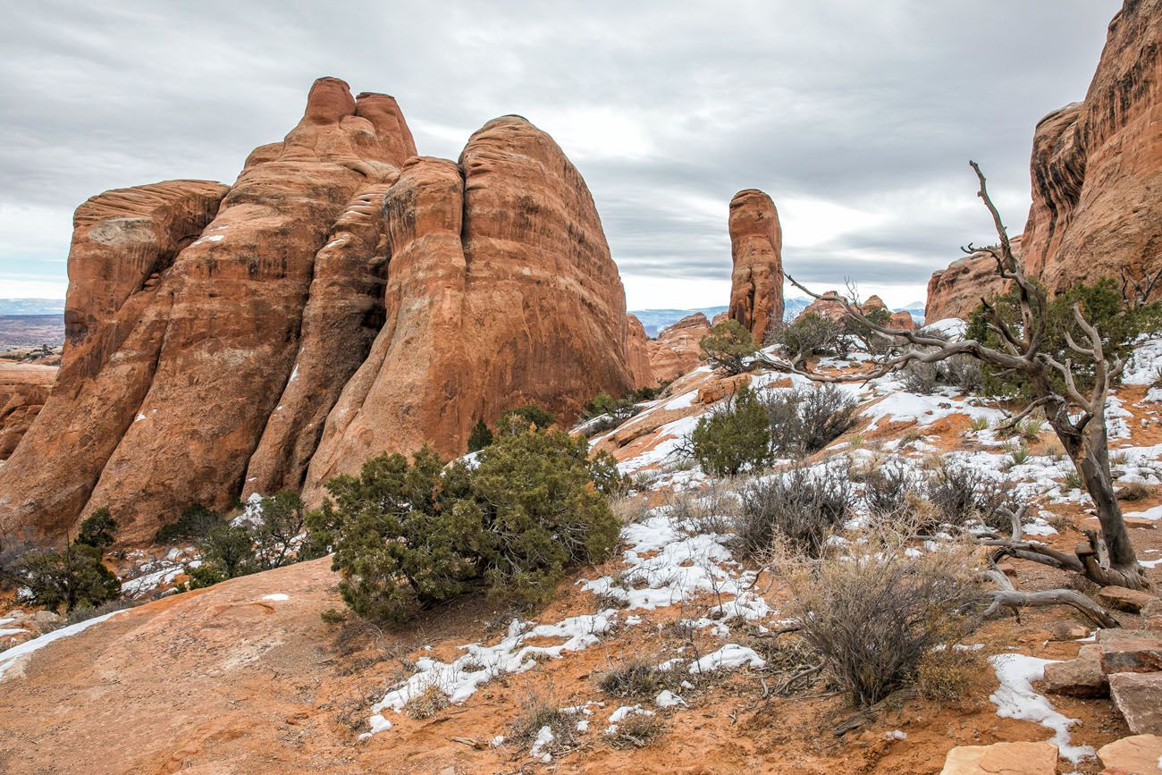 Devils Garden in Winter