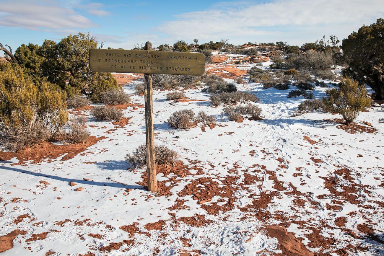 Gooseberry Trail Marker