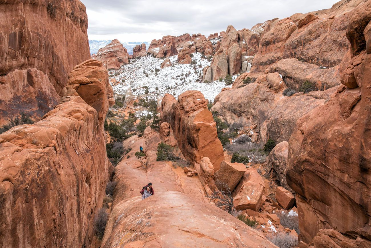 Great View of Devils Garden Hike