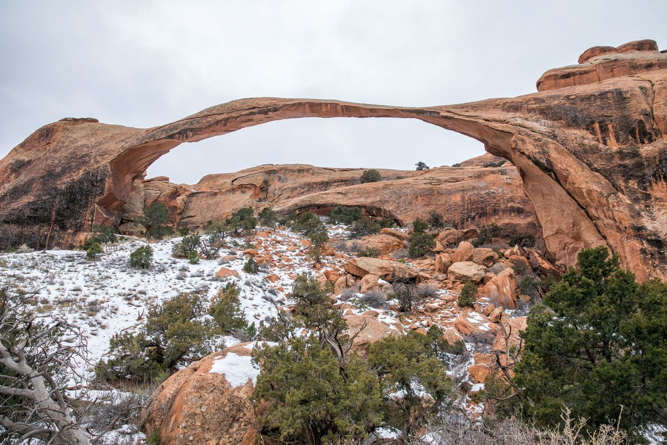 Landscape Arch in Winter