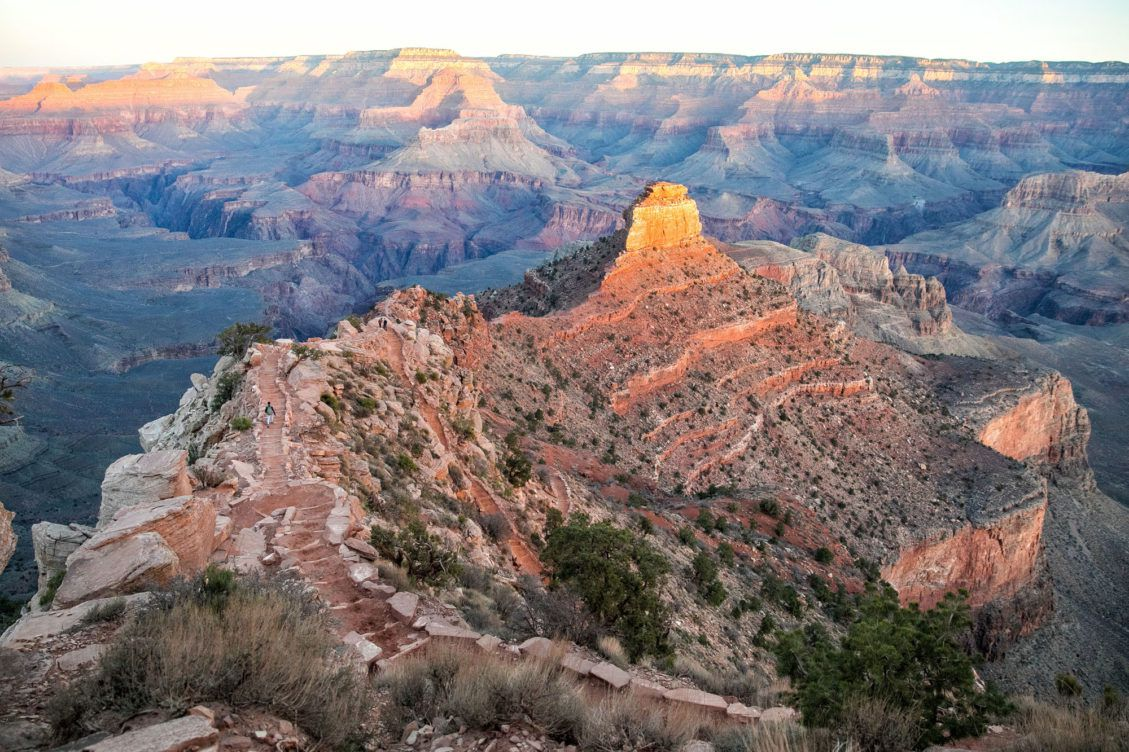 South Kaibab Trail at Sunrise