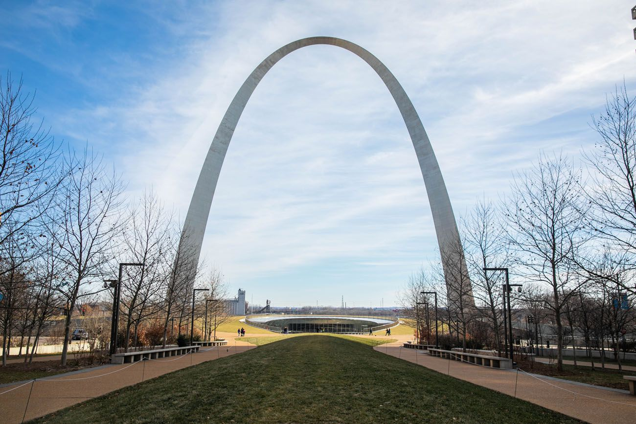 Gateway Arch in February