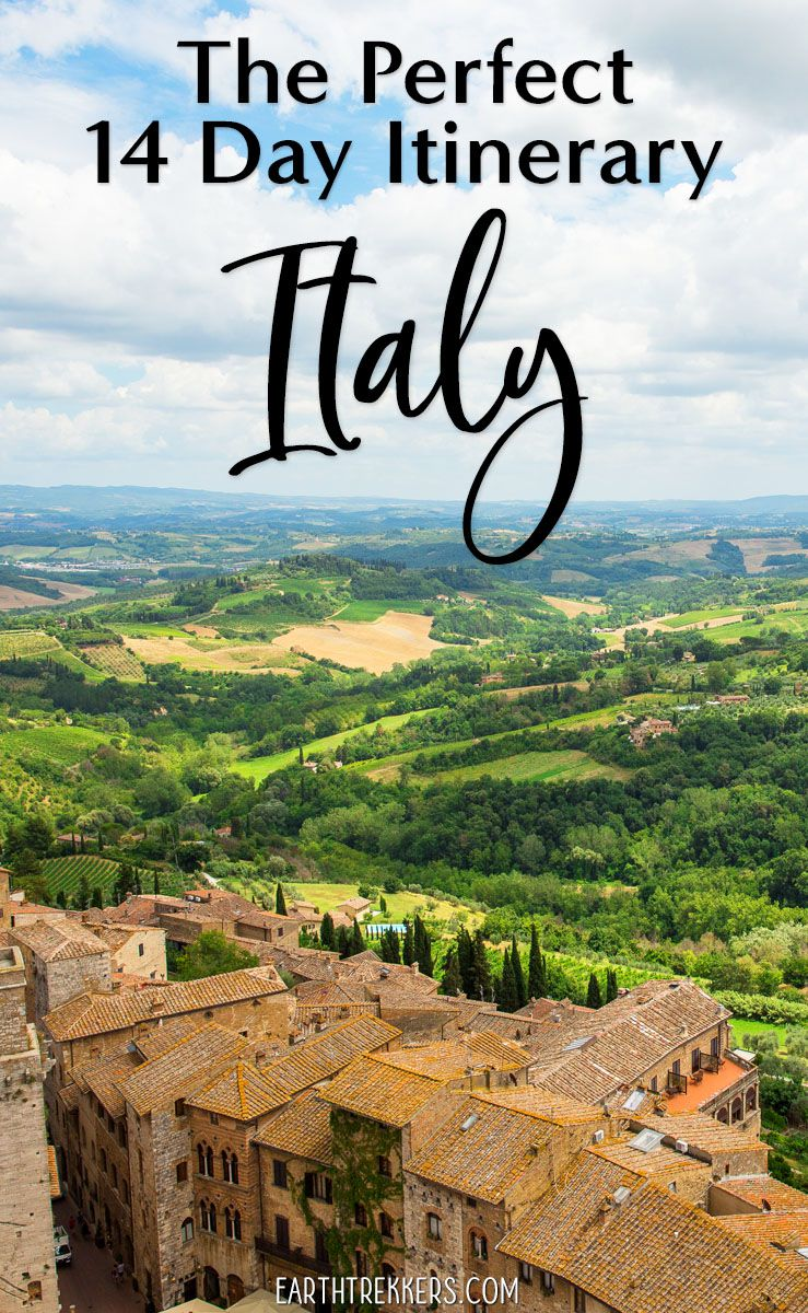 14 Day Italy Itinerary with Rome Florence Venice