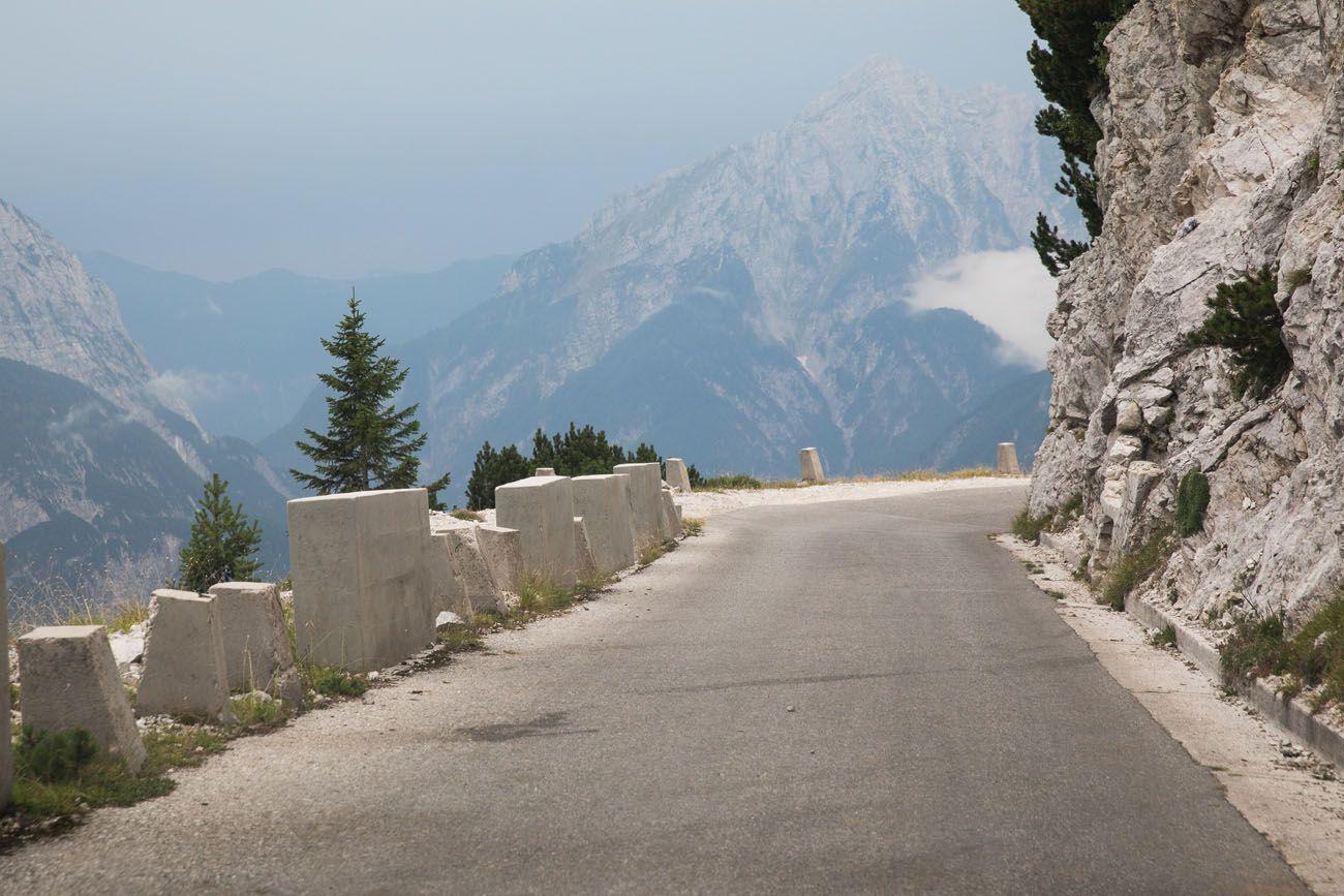 Mangart Saddle Road