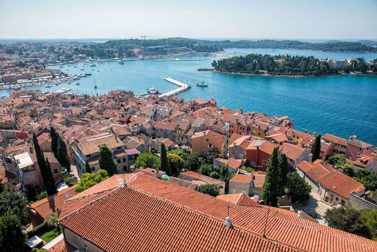 Overlooking Rovinj Istria itinerary