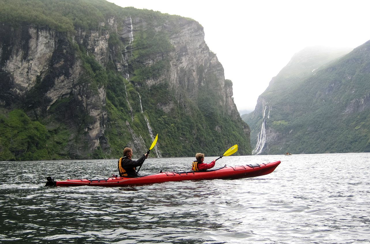 Kayak Geirangerfjord 10 days in Norway