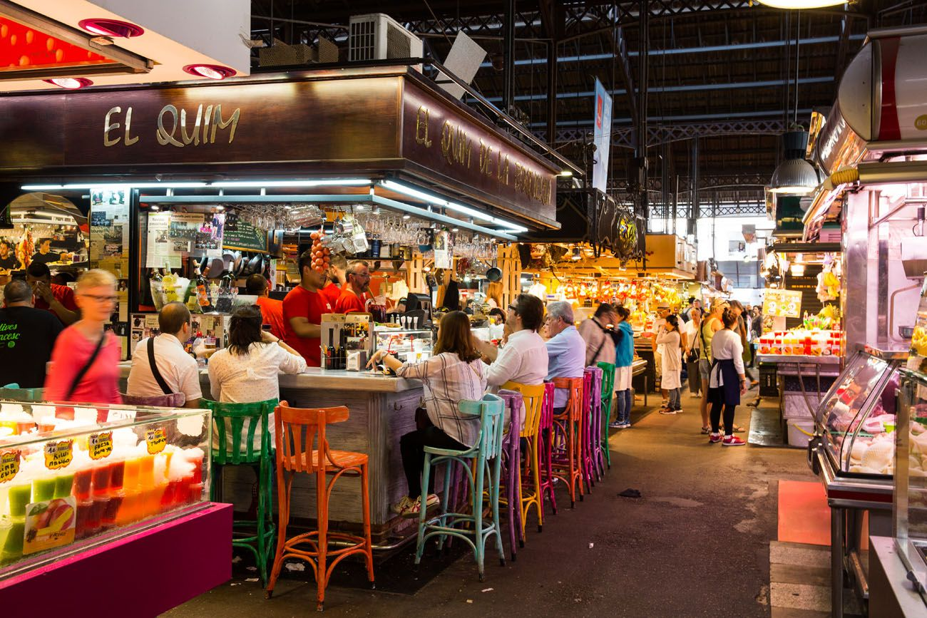 La Boqueria 3 days in Barcelona itinerary