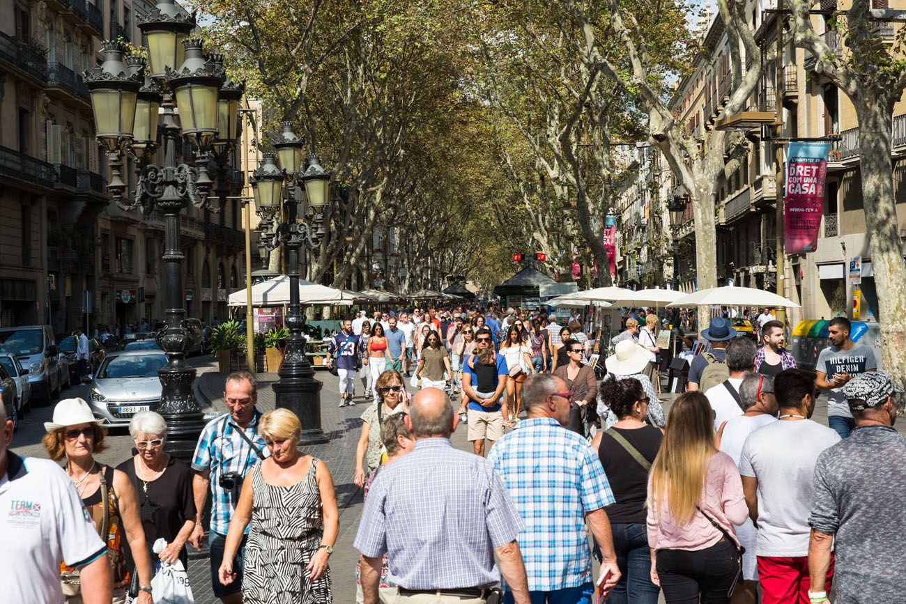 Las Ramblas in September