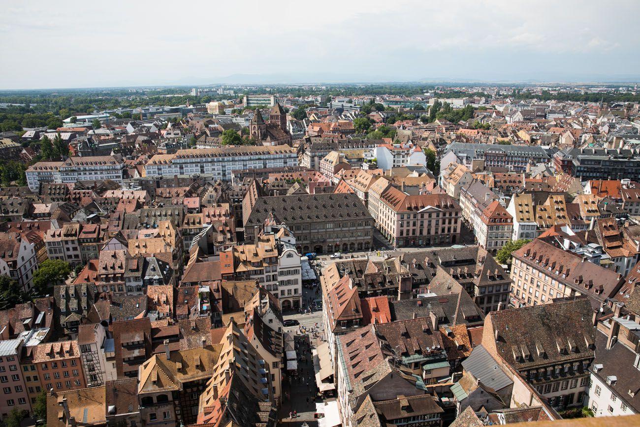 Overlooking Strasbourg