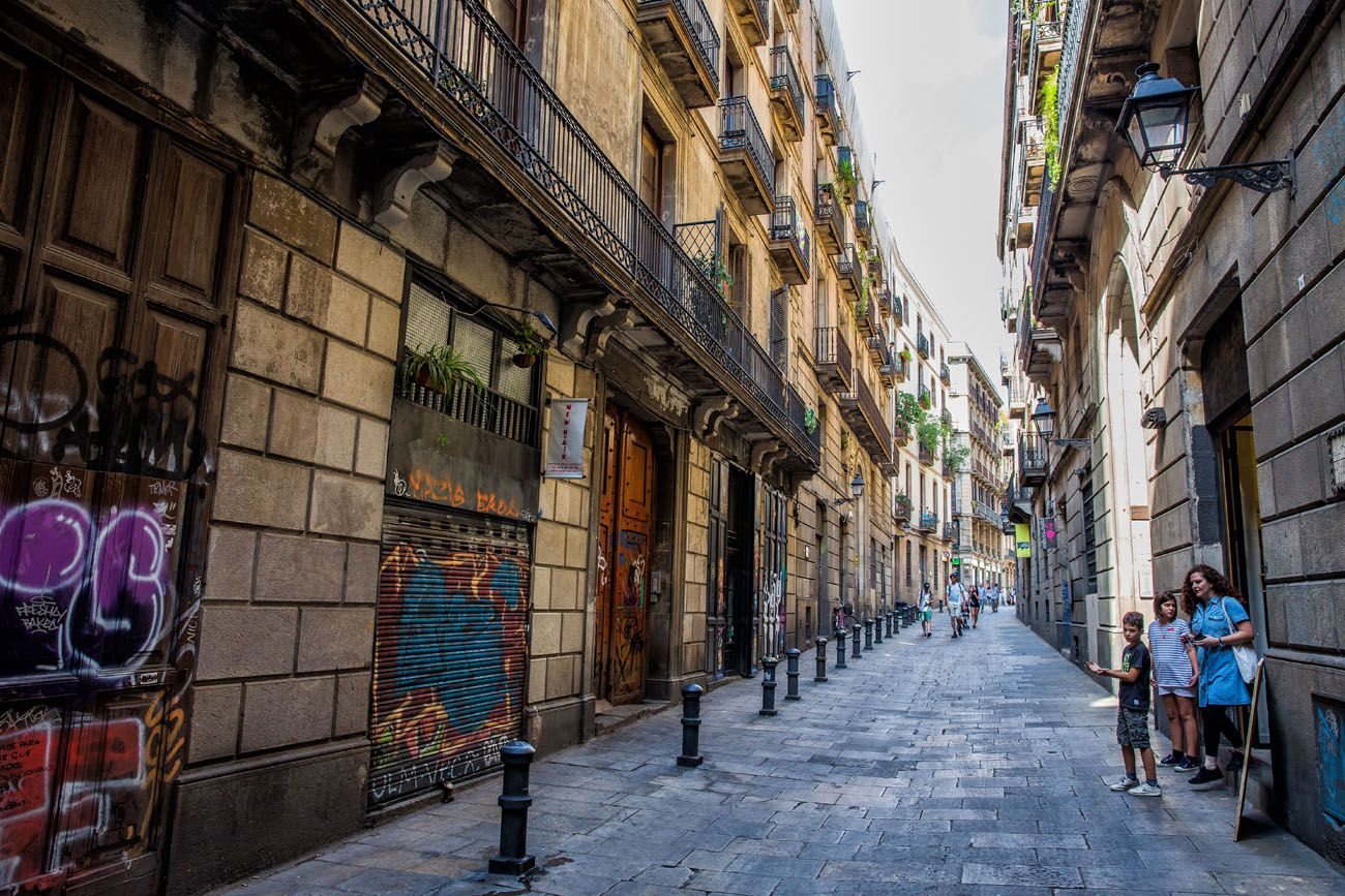 Walking through Barcelona