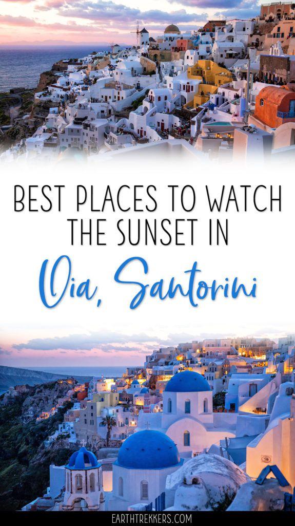Best Sunset Spots Oia Santorini