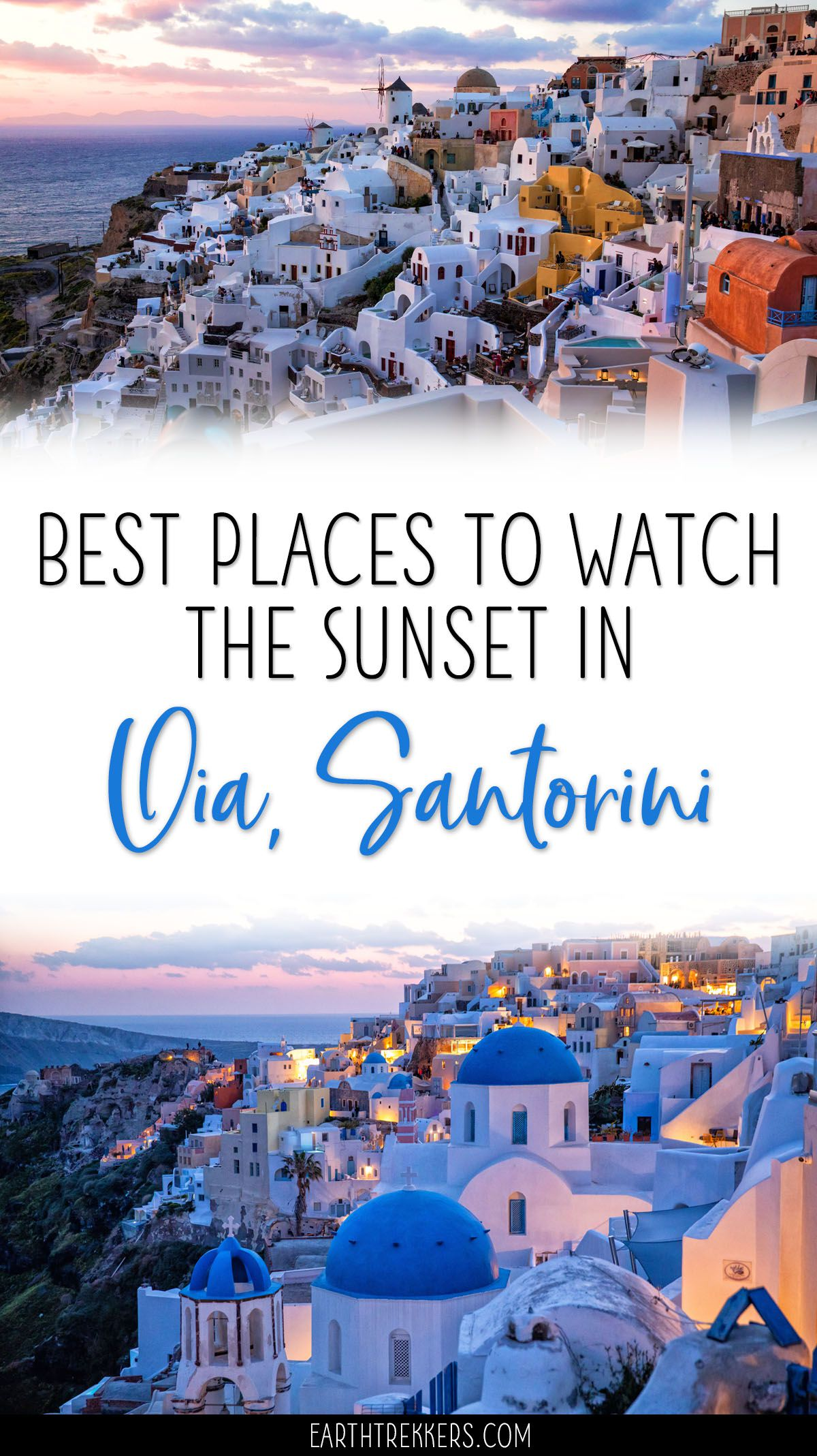 Best Sunset Spots Oia Santorini