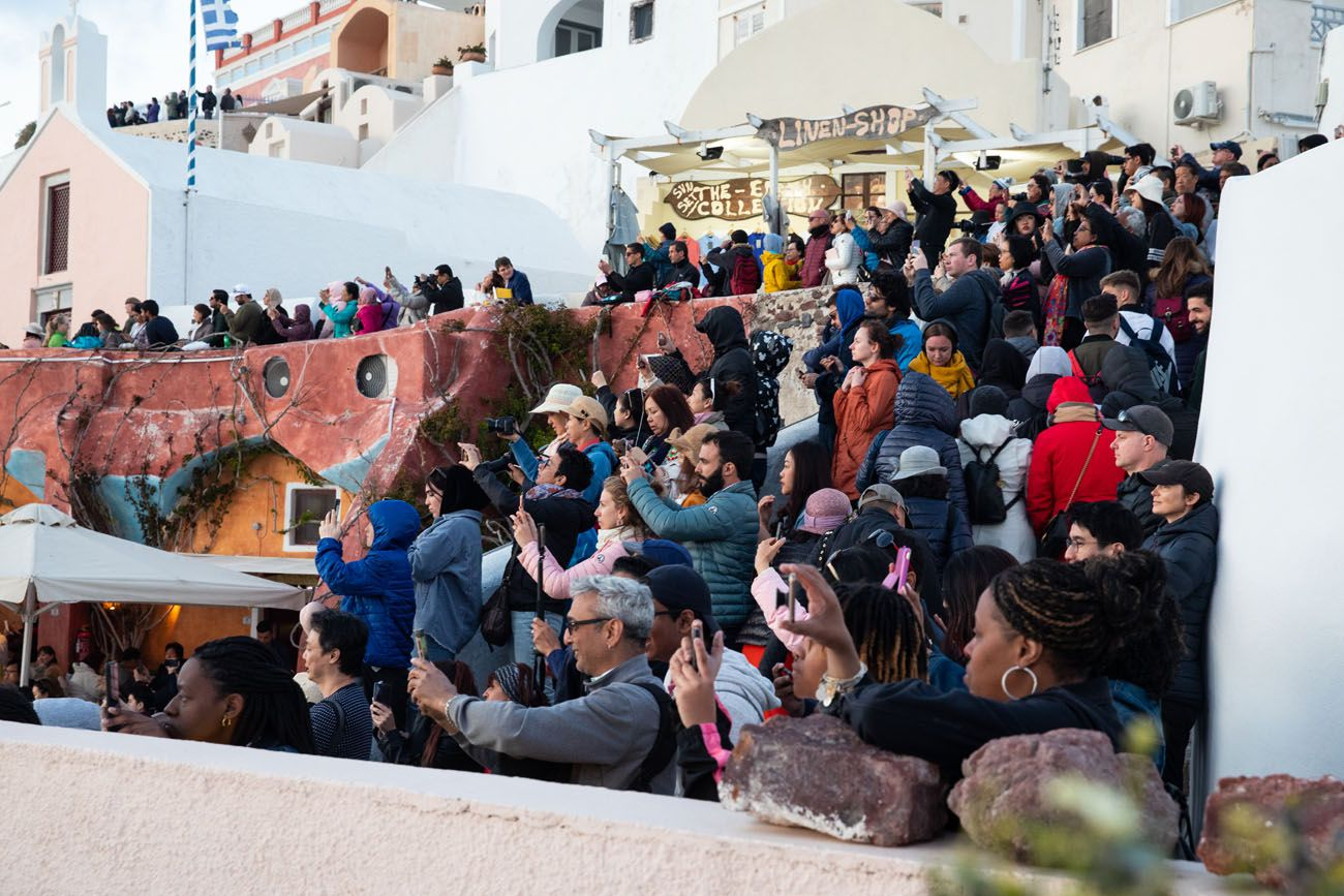 Crowds in Santorini