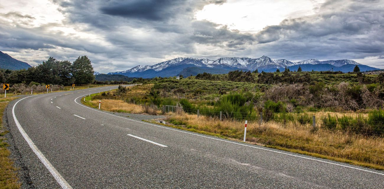 Driving Te Anau to Milford Sound