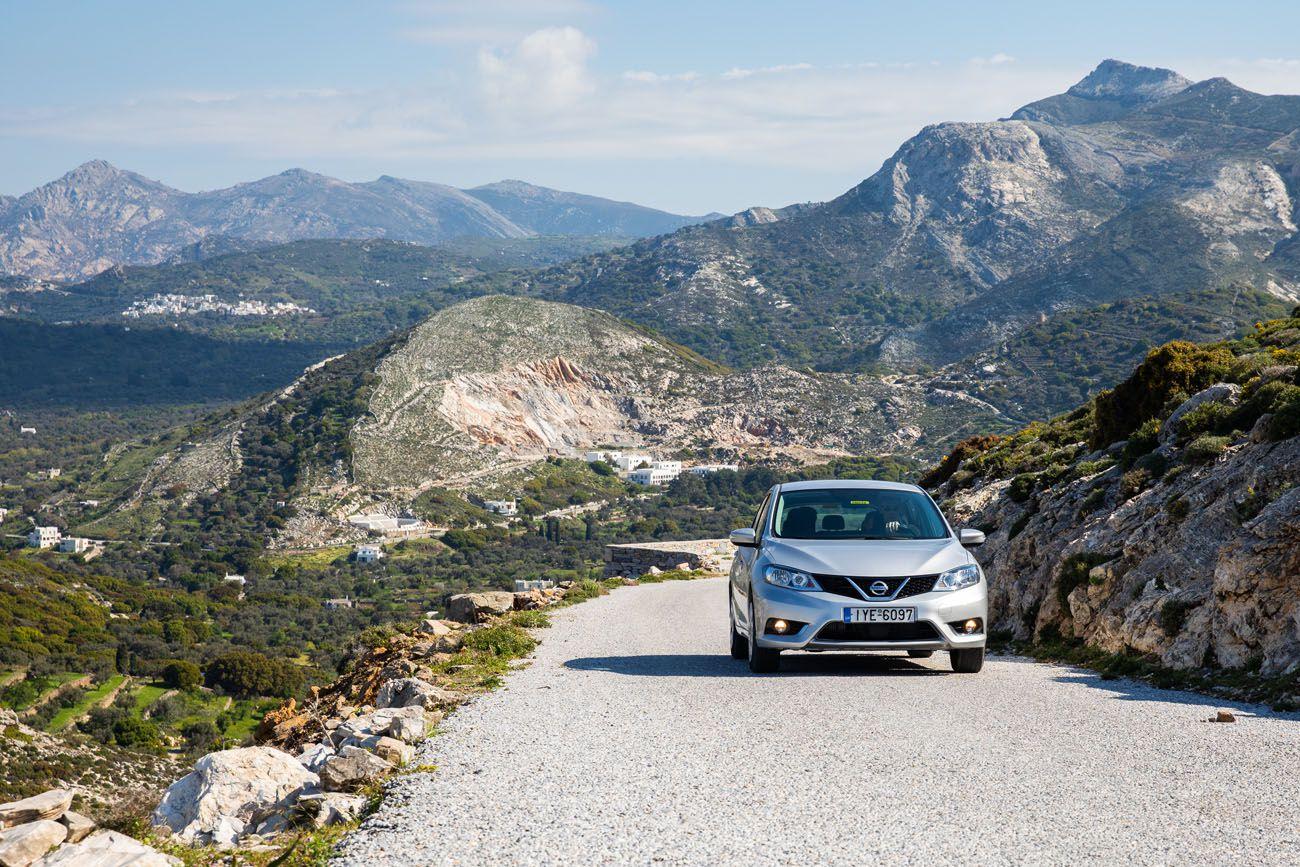 Driving on Naxos