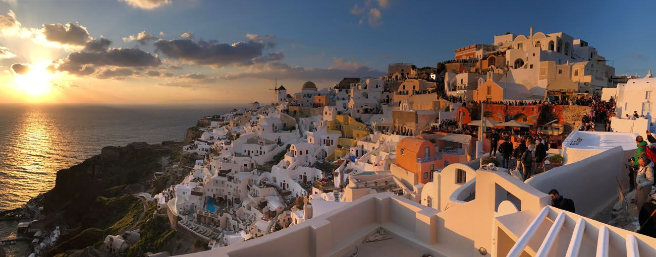 Oia Sunset Panorama