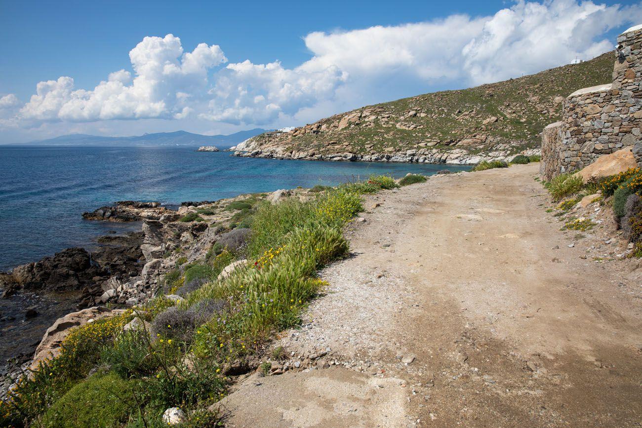Road to Kapari Beach