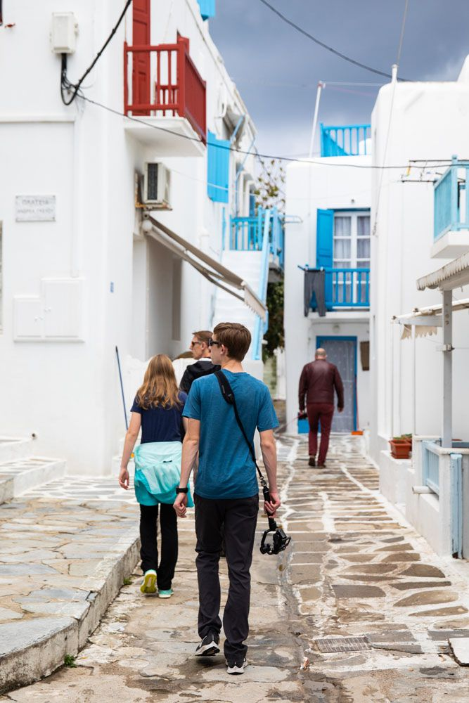 Walking through Mykonos