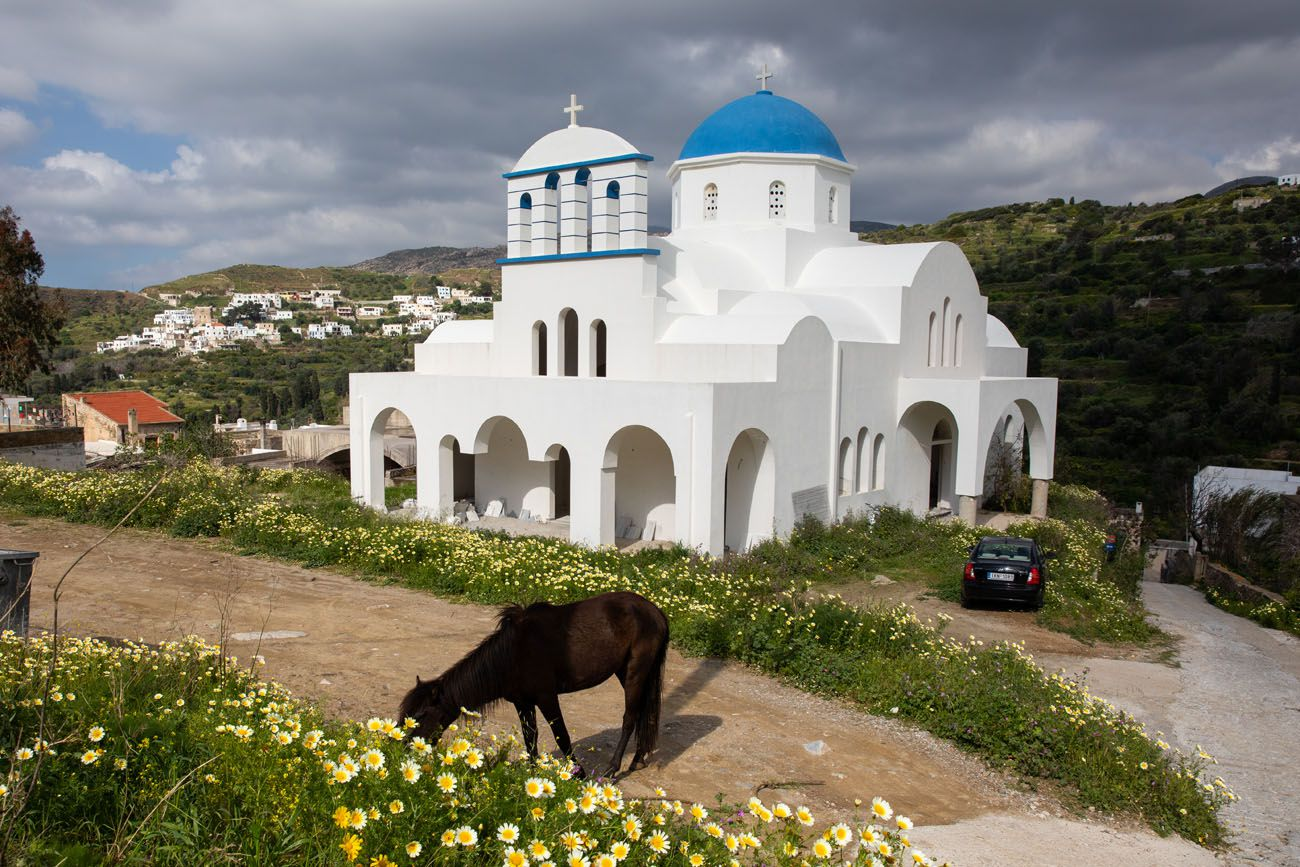 Blue Dome Church in Naxos