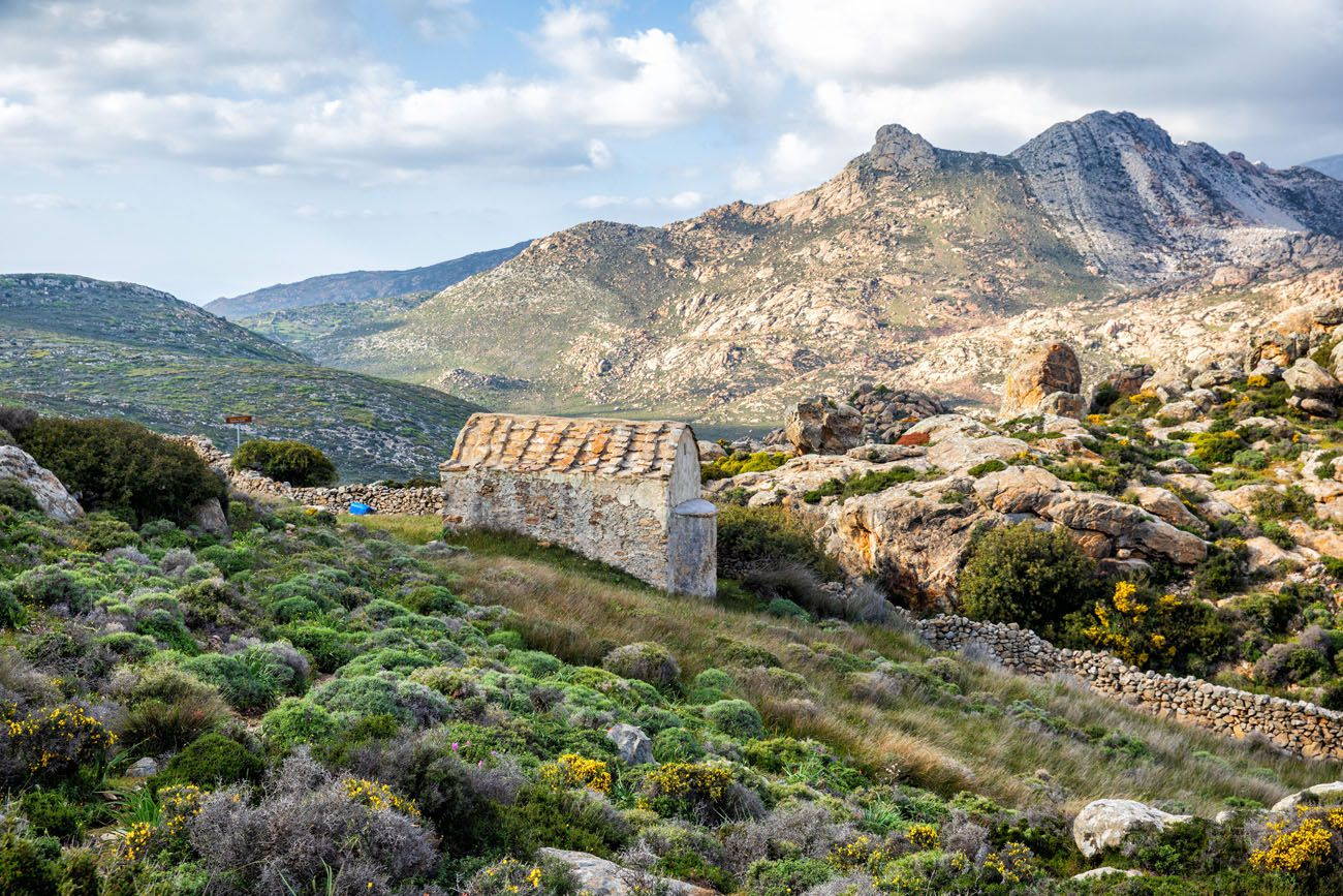 Naxos Hike in April