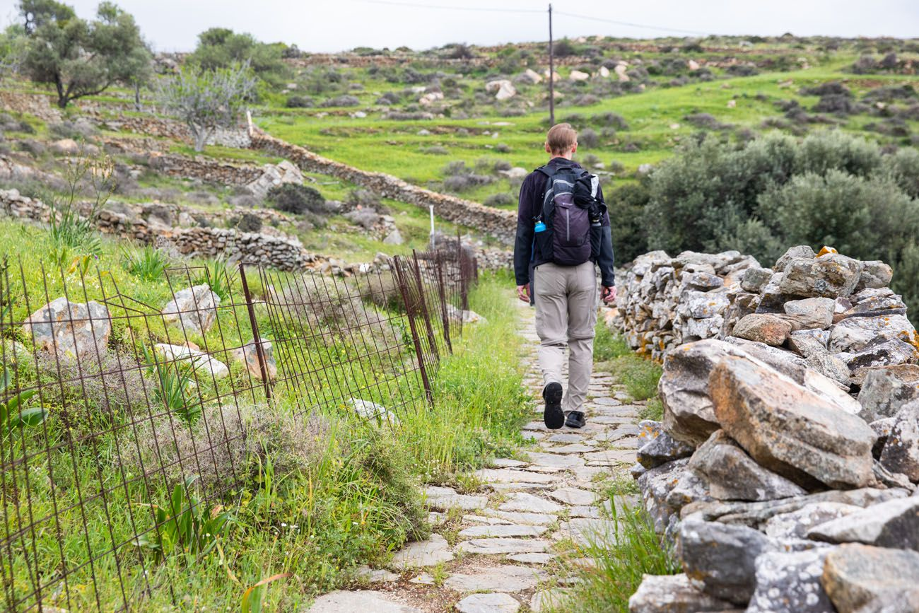 Walking to Kouros Naxos