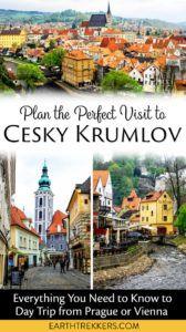 Cesky Krumlov from Prague or Vienna