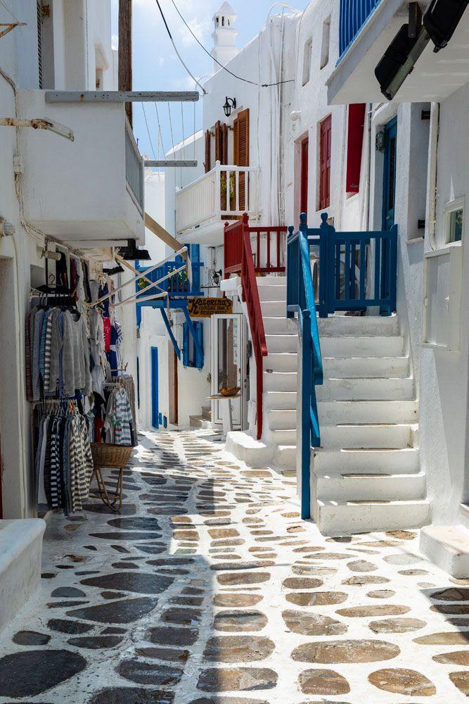 Mykonos Street Greece itinerary