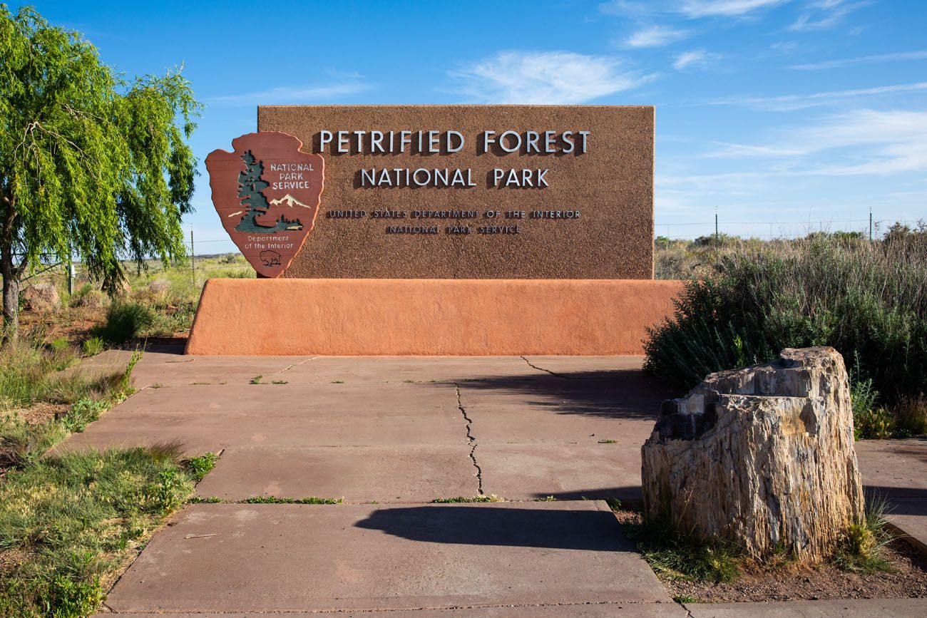 Petrified Forest Sign