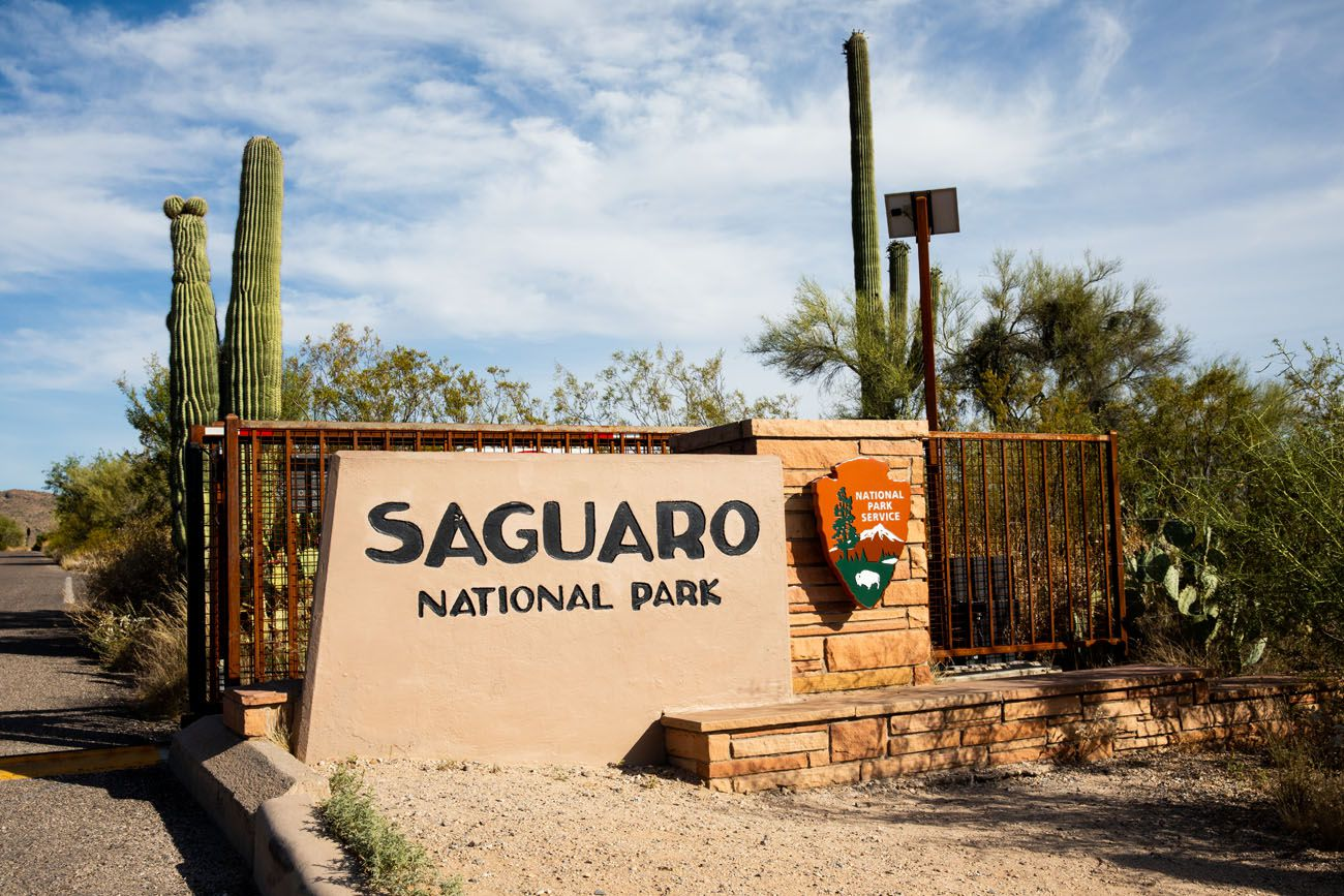 Saguaro National Park Sign