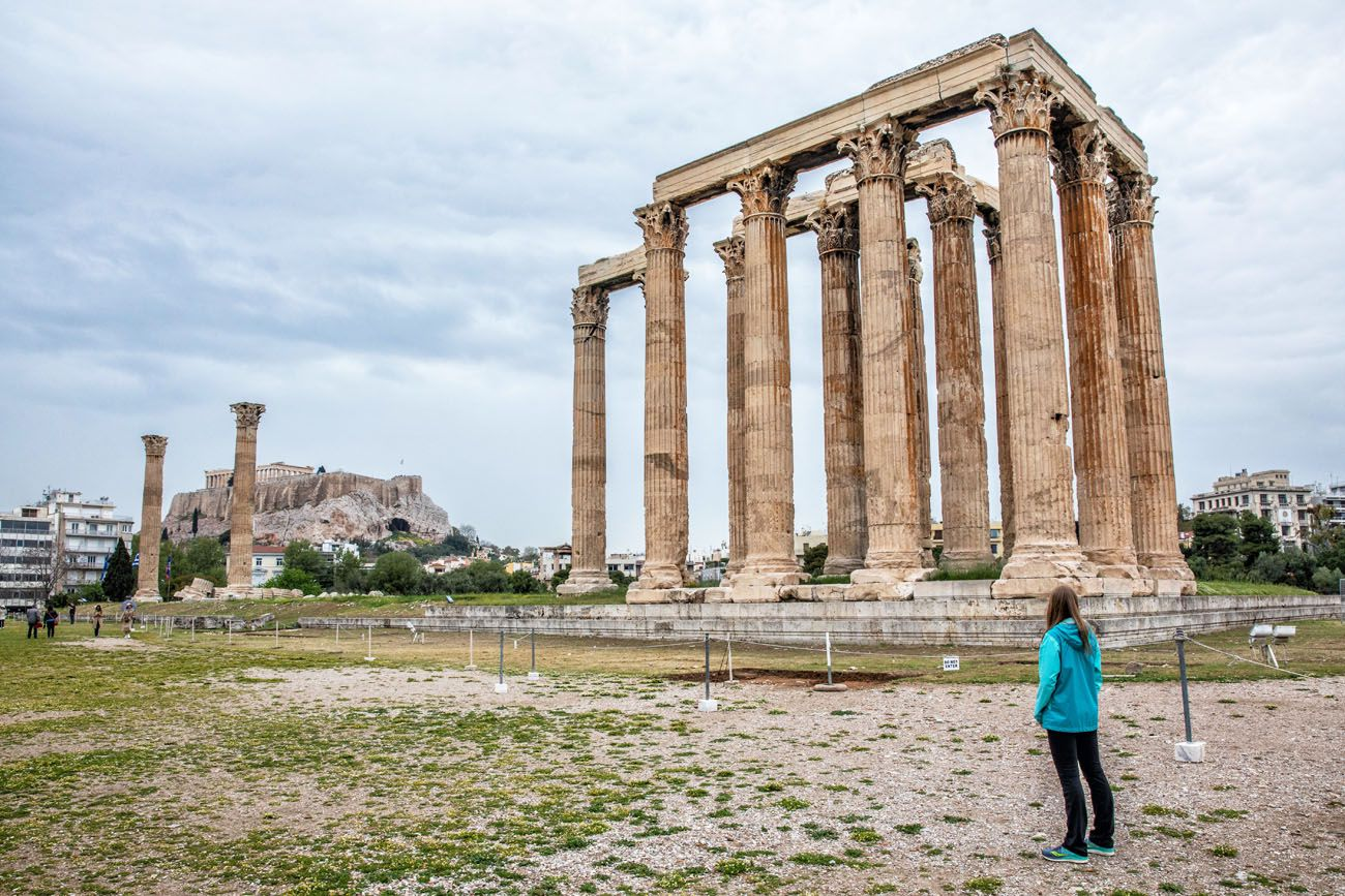 Temple of Olympian Zeus Greece itinerary