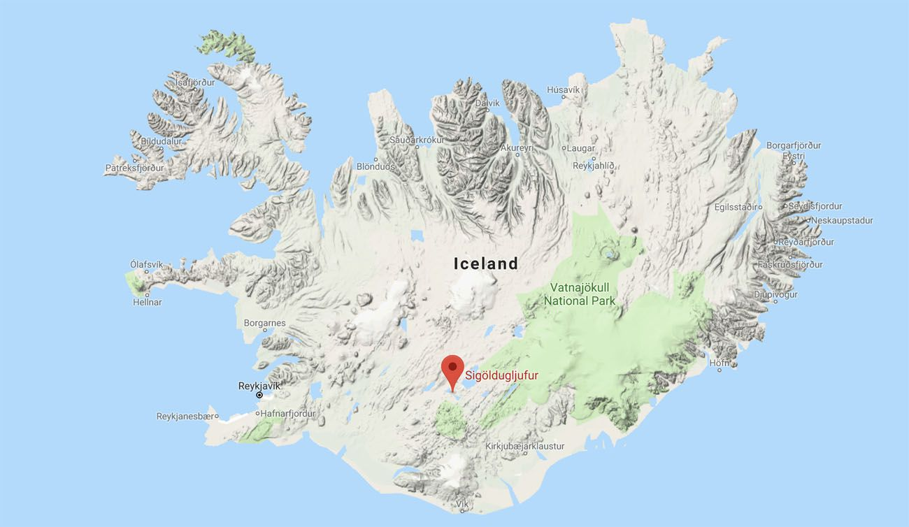 Sigoldugljufur Location