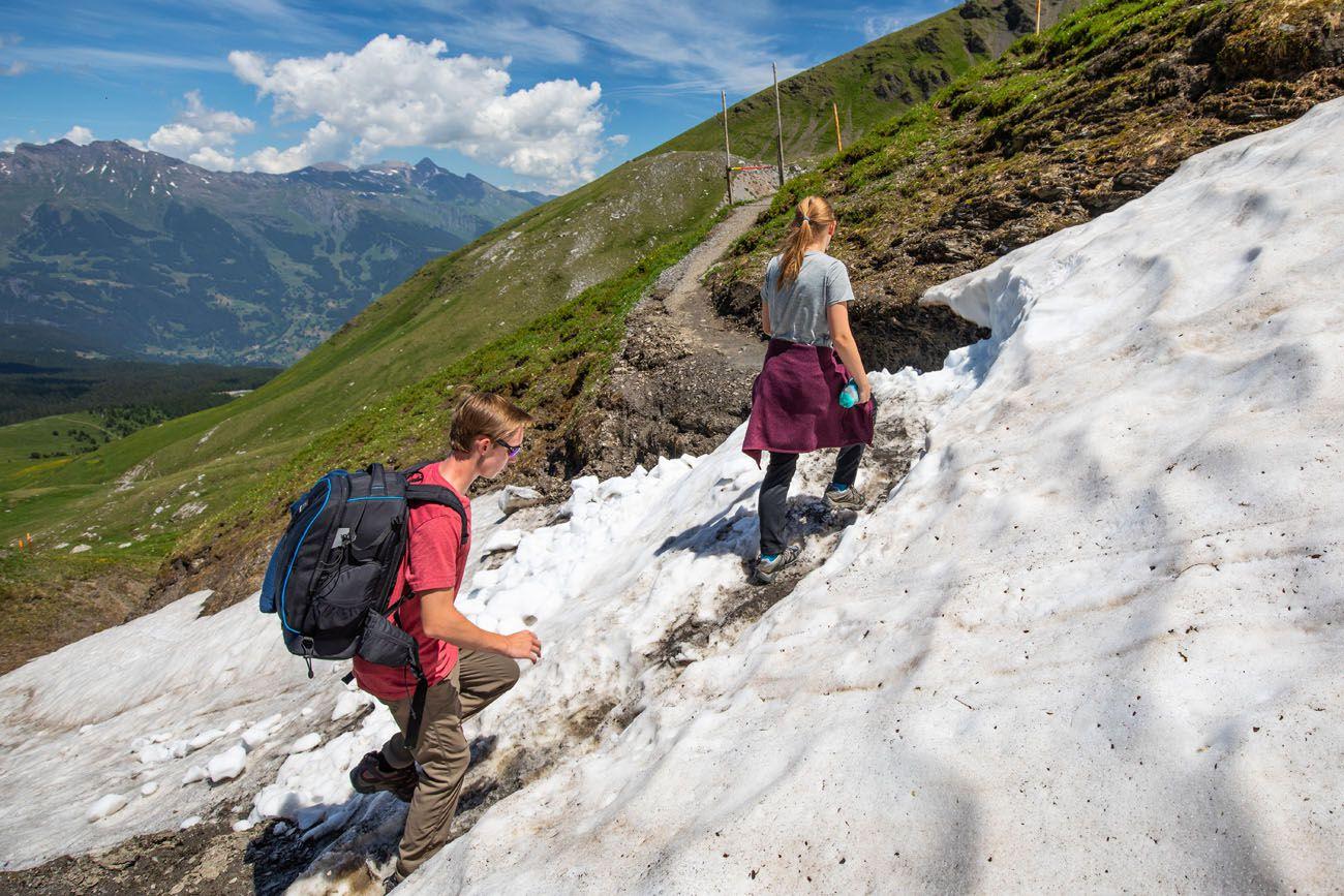 Snow-on-the-Trail.jpg.optimal ▷ Cómo caminar por el sendero Eiger en el Oberland bernés, Suiza