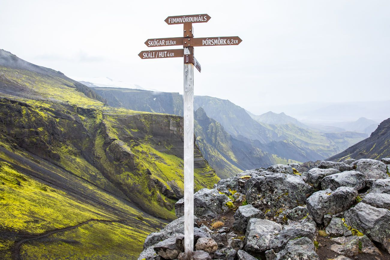 Iceland Trail Sign