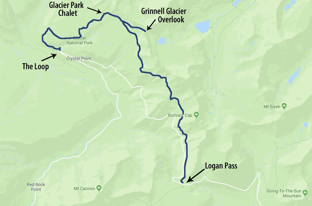 Highline Trail: Logan Pass to the Loop, Glacier National ...