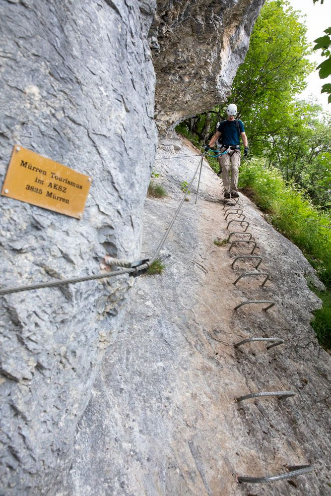 Tim Climbing Down