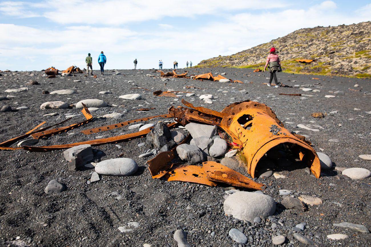 Wreckage on the Beach