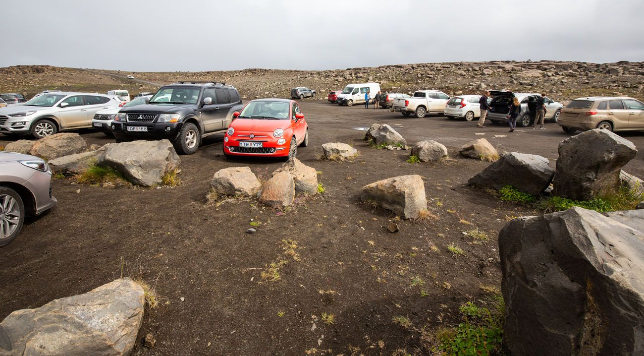 Dettifoss East Side Parking Lot
