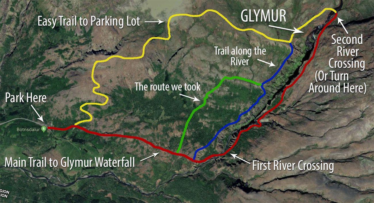 Glymur-Map-1.jpg.optimal ▷ Cascada de Glymur: la guía completa de senderismo