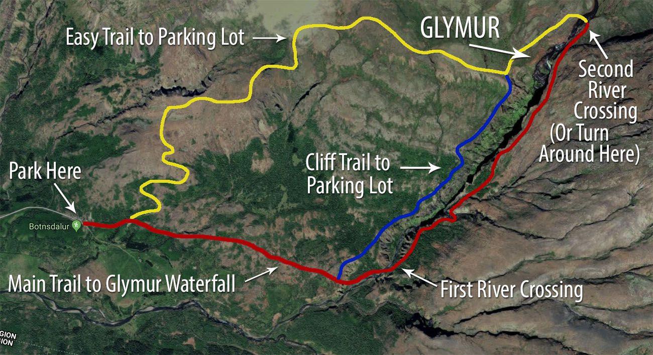 Glymur-Map.jpg.optimal ▷ Cascada de Glymur: la guía completa de senderismo