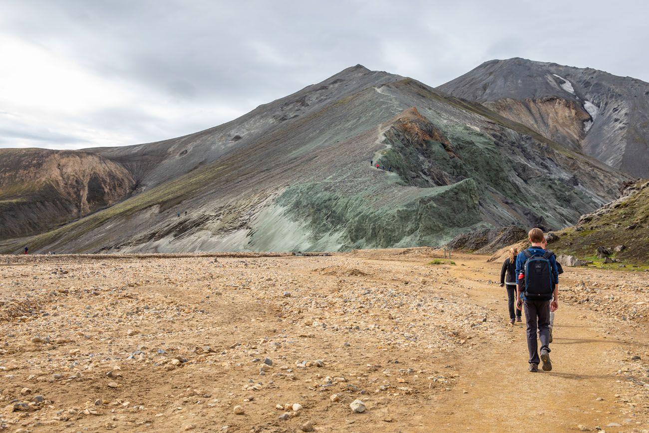 Hiking to Blahnukur