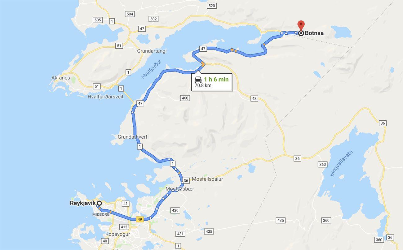 Map-to-Glymur-Waterfall.jpg.optimal ▷ Cascada de Glymur: la guía completa de senderismo