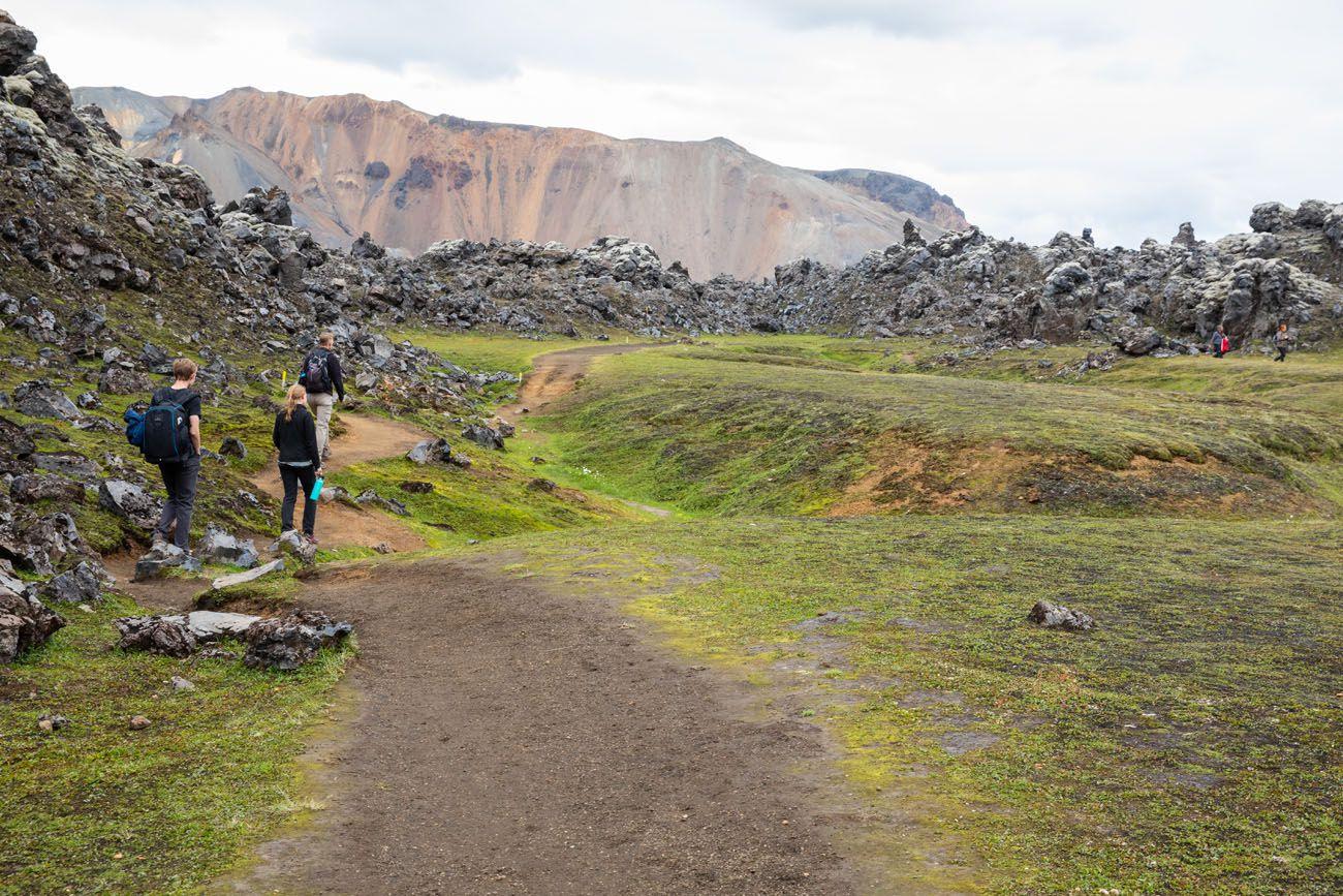 Yellow Trail Laugahraun